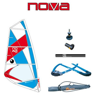 BIC Sport Nova Complete Windsurfing Rig, Red/White/Blue, 5.5 Square Meter by BIC Sport