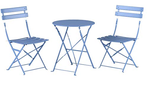 639cdb78e267 Grand Patio Premium Steel Patio Bistro Set, Folding Outdoor Patio Furniture  Sets, 3 Piece