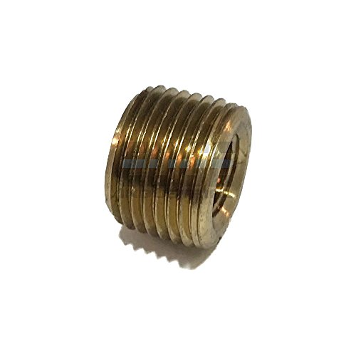 EDGE INDUSTRIAL BRASS REDUCING FACE BUSHING 3/8 MALE NPT X 1/8 FEMALE NPT FUEL/AIR/WATER/OIL/GAS (Pipe Face Bushing)