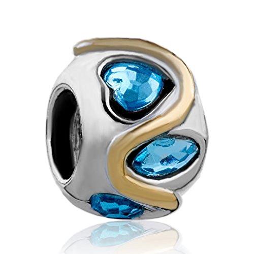 CharmsStory Birthstone Crystal Silver Bracelets