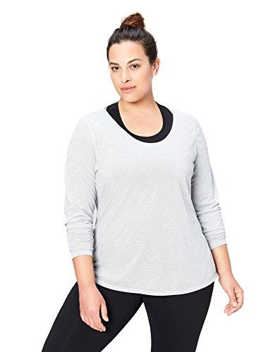 Long Shirt Core Sleeve (Core 10 Women's Plus Size 'Lighter Than Air' Performance Long Sleeve T-Shirt (XS-XL, Plus Size 1X-3X), Light Grey Heather, 2X)