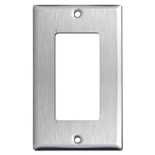 (Brushed Satin Nickel Stainless Steel Wall Covers Switch Plates & Outlet Covers (Single Rocker))