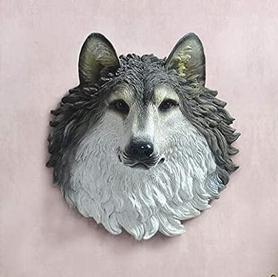 RWJFH Decoración de la Escultura El Lobo Lobo tótem Resina ...