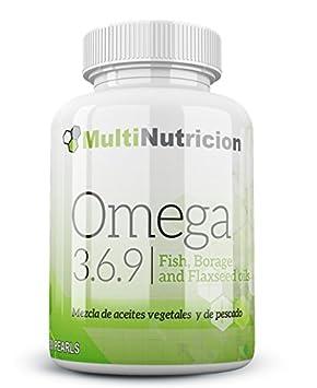Omega 3.6.9 mezcla de aceites vegetales y de pescado con vitamina E. 180 Perlas. Tratamiento para 3 meses: Amazon.es: Salud y cuidado personal