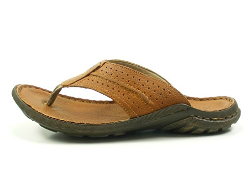 Josef Seibel 12674-343 Logan 39 Men's Thongs Braun