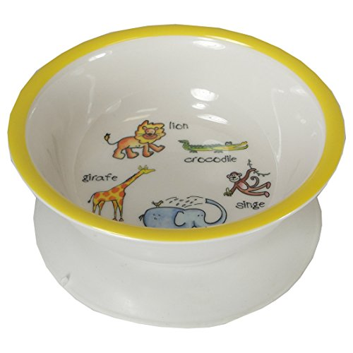 Baby Cie Melamine Suction Bowl with French Wording, La Jungle