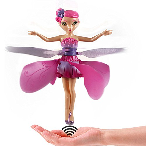 Magic House Tree Costumes (Flying Fairy Doll Christmas Xmas Flying Toy Hand Toys RC Flying Ball Infrared Induction Helicopter Ball Remote Control for Baby Girls, Flying Gift Doll for Child (Fairy Doll, Flying)