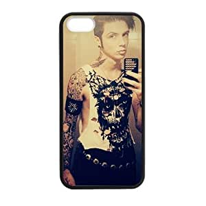 At-Baby Customized Black Veil Brides Andy Pattern Iphone Case Iphone 5 5S Case Cover (Laser Technology)