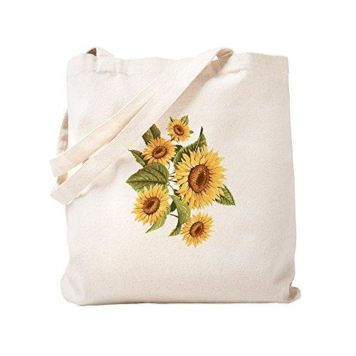 CafePress Sunflower Natural Canvas Tote Bag, Cloth Shopping Bag