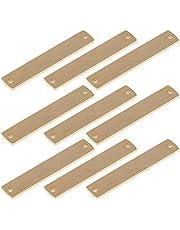LIXBD 10 Stks Roestvrij staal Stempelen Lege Tags Rechthoek Charm Hangers DIY Sieraden Tags Naam Plaat Sieraden Craft Supplies (Gouden)