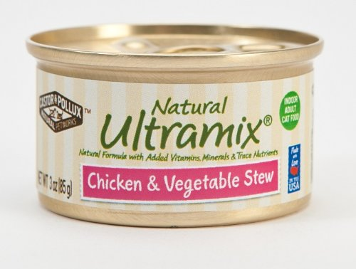 Castor and Pollux Ultramix Indoor Feline Formula Chicken and Vegetables Dinner, 3-Ounce Cans (Pack of 24), My Pet Supplies