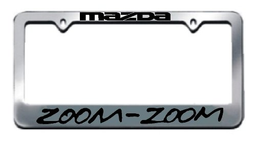 Amazon.com: Mazda Zoom Zoom Chrome License Plate Frame: Automotive