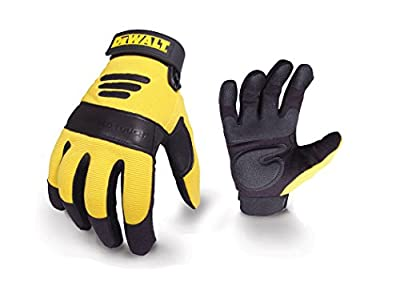 DEWALT Heavy Duty Synthetic Padded Leather Palm Spandex Back