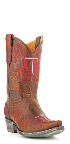 Ncaa Texas A & M Aggies Da Donna Stivali Da Gioco Da 10 Pollici In Ottone
