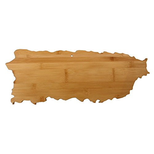 Totally Bamboo Puerto Rico Shaped Bamboo Serving and Cutting (Puerto Rico Kitchen)