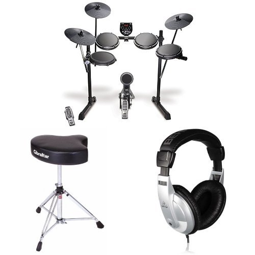 Alesis DM6 USB Electronic Drum Set Bundle with Drum Throne and Headphones by Alesis
