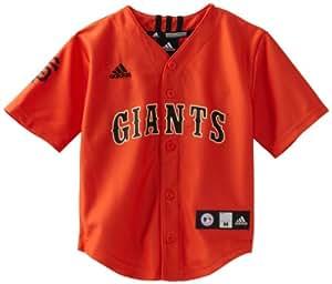 MLB Boys San Francisco Giants Team Color Printed Jersey (Varsity Orange, 4)