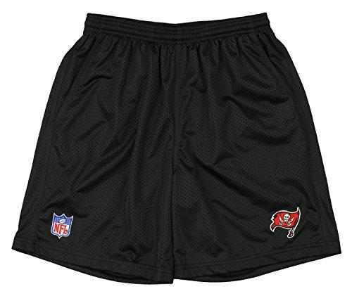 Reebok NFL Mens Coaches Sideline 2-Layer Mesh Shorts - Team Options (Large, Tampa Bay Buccaneers - (Reebok Nfl Tampa Bay)