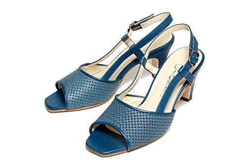 Ciesta Sandali Con Cinturino Posteriore Da Donna [169-16067] {pelle} [20-21,5 Jp (2,5-4 Donne Us)] Blu Scuro