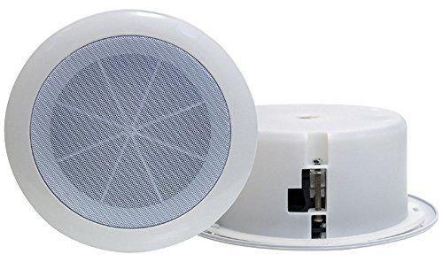 Range Enclosures Full - Pyle Home PDICS6 6.5-Inch Full Range In-Ceiling Flush Mount Enclosure Speaker