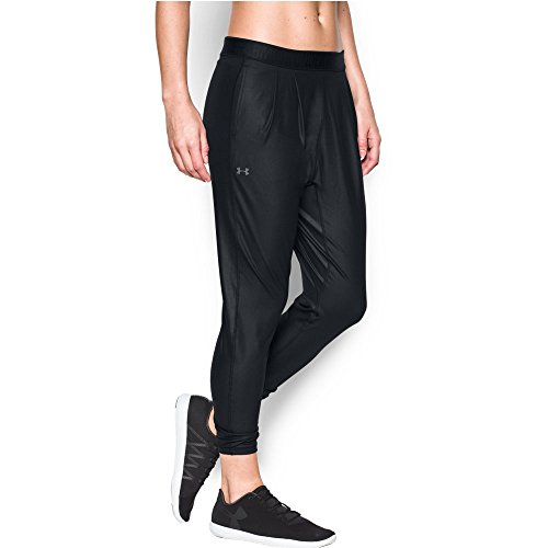 Under Armour Women's City Hopper Harem Pant, Black/Gray Area, Large