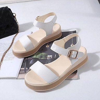 Block Chameau Heel Confort Talons à Chaussures Femme Moins 5 de white ggx cm 2 Marche Gomme Confort LvYuan Blanc Eté Boucle x716PwqWz