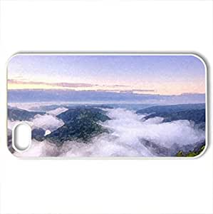 Beautiful Atmopshere - Case Cover for iPhone 4 and 4s (Forces of Nature Series, Watercolor style, White)