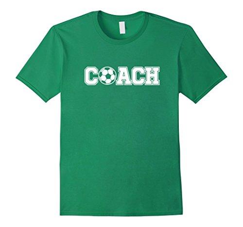 Mens Soccer Coach Shirt Sports Coaching Staff Head Coach Tees XL Kelly Green from Soccer Coach Shirt