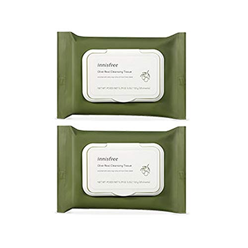 Innisfree Olive Real Cleansing Tissue 30 sheets x 2 - Amore Candy