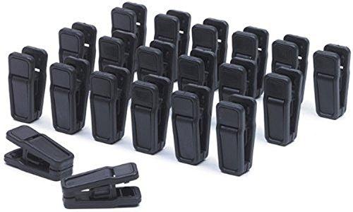 MXXGMYJ Black Huggable Hangers Finger Clips Huggable Ultra Slim Line Finger Clips Set of 20