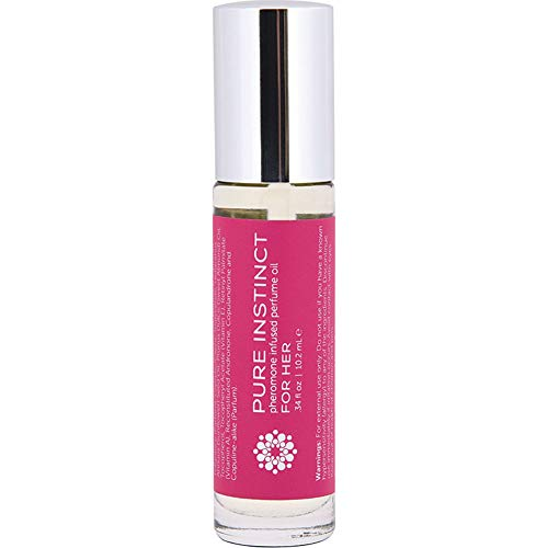 Pure Instinct Pheromone Infused Perfume Oil Roll-On for Her, 0.34 fl.oz (10 mL)