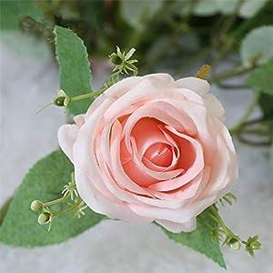 Bride Wedding Bouquet Polyester 9 Heads Rose Gypsophila Bouquet Bridesmaid Artificial Silk Flower DIY Wedding Accessories 14