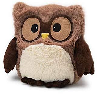 HOOTY BROWN OWL - WARMIES Heatable Lavender Scented Stuffed Animal (Owl Heating Pad)