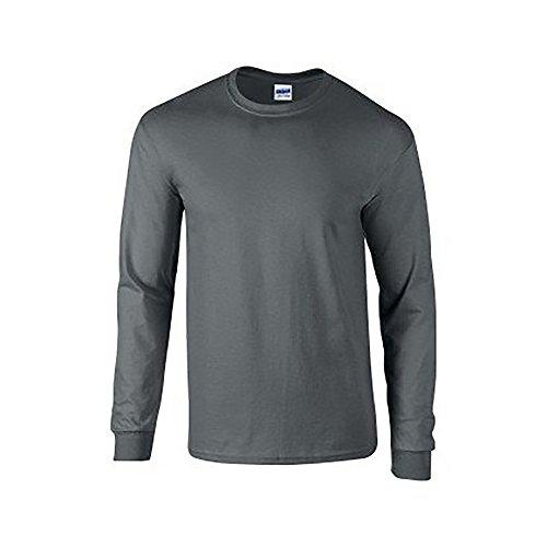 Gildan sleeve Shirt Style L Chocolat T Noir Soft Homme pzwPR