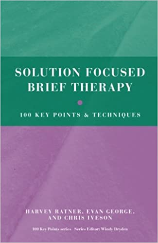 Brief solution focused therapy books
