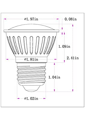 PAR16 LED Bulb, 3W (30W equivalent), 300 lumen, 2700K Warm White, CRI85+, Flood Light Bulb, 120 Degree Beam Angle, Medium Base (E26), Dimmable (Pack of 1)