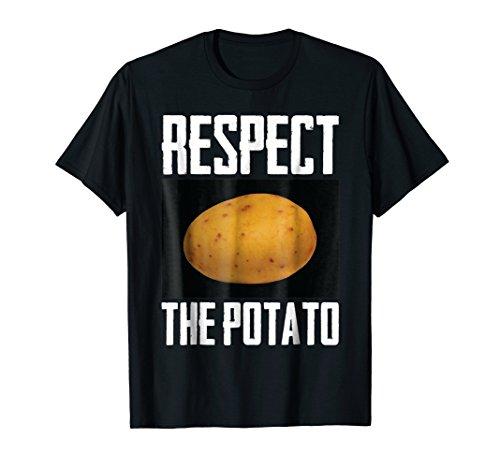 Respect The Potato Funny Root Vegetable Potatoes T-Shirt (Best Vegetables For Men)