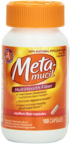 Metamucil Multi-Health Fiber Capsules 100 ea (Pack of 8) by Metamucil