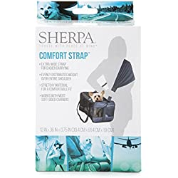 Sherpa 56014 Travel Pet Carrier Accessory Comfort Strap, One Size, Black