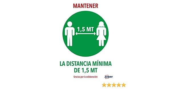 Avery España AV_KITCOVID4_ES Señales de Emercencia, Advertencia - MANTENRE DISTANCIA MINIMA, 2Hojas A4: Amazon.es: Bricolaje y herramientas