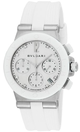 Bvlgari Watch Diagono Automatic Chronograph Diamond Dg37wscvdch / 8