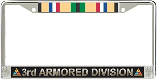 MilitaryBest 3rd Armored Division Gulf War Veteran Service Ribbon License Plate Frame