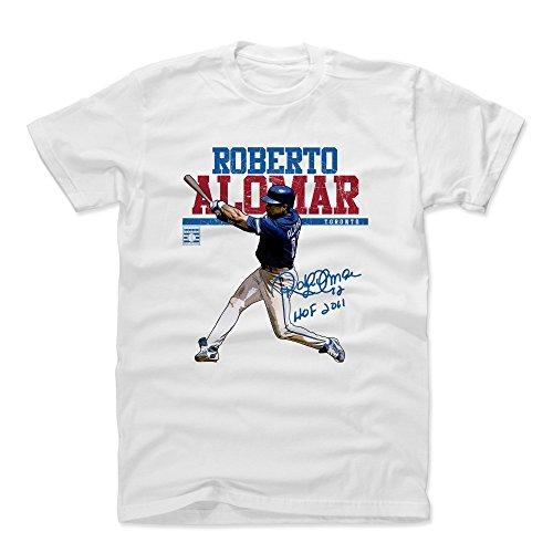 - 500 LEVEL Roberto Alomar Cotton Shirt (Medium, White) - Toronto Blue Jays Men's Apparel - Roberto Alomar Play B