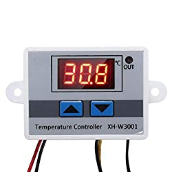 Manakayla XH-W3001 Digital Display LED Temperature Controller Thermostat Control Switch Colorful
