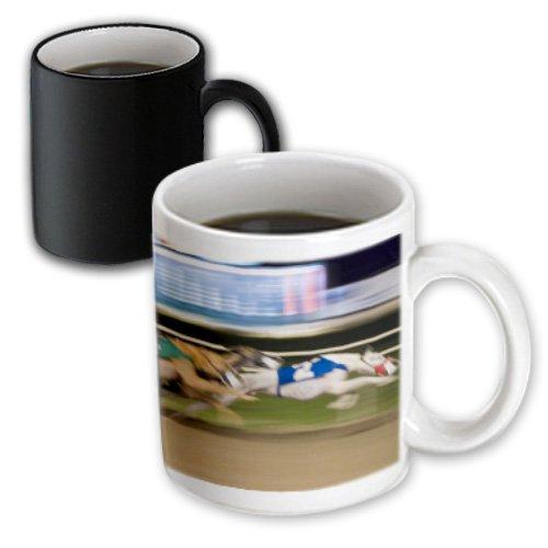 Greyhound Race - 3dRose 88112_3 West Memphis, Arkansas Greyhound races-US04 MDE0002-Michael DeFreitas Magic Transforming Mug 11 oz Black/White