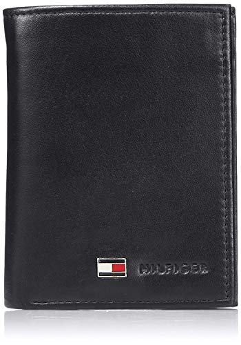 Image of Tommy Hilfiger Men's Trifold Wallet-Sleek and Slim Includes ID Window