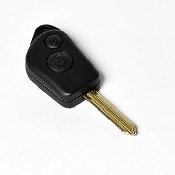 Carcasa para llave con telemando de Citroën Saxo, Berlingo, Xsara Picasso, incluye espadín.