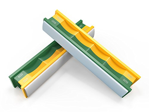 Wicked Edge - Medium/Fine Semi-Round Stones for Curved Blades - - Edge 600