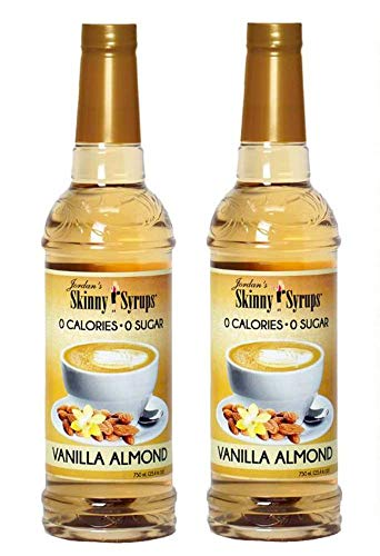- Jordans Skinny Traditional Sugar Free Syrups 750 ml 2 Bottles (Vanilla Almond)