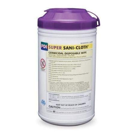 Super Sani-Cloth Germicidal Wipe, 8X14 Use On Surface Or Equipment, TUB 65 Units by PDI Professional ()